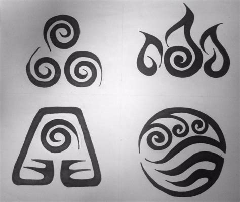 earth symbol tattoo avatar element symbols tribal design by