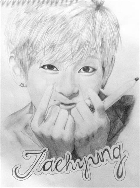 V Drawing Bts Easy by Taehyung Bts V By Maracujade On Deviantart