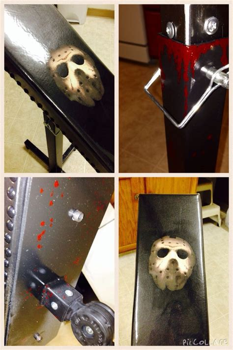 tattoo accessories jason from friday the 13th inspired armrest