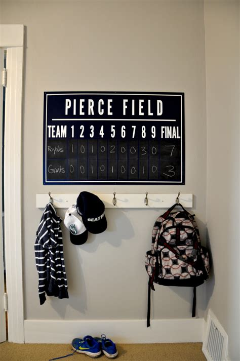 personalized wall decor for home one room challenge diy baseball scoreboard house updated
