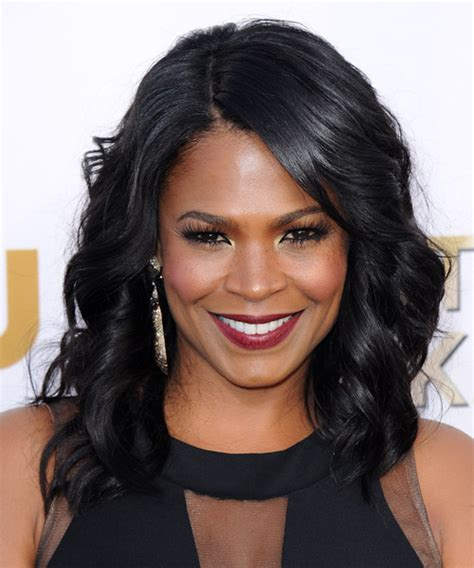 how to style hair like nia long nia long medium wavy formal hairstyle black