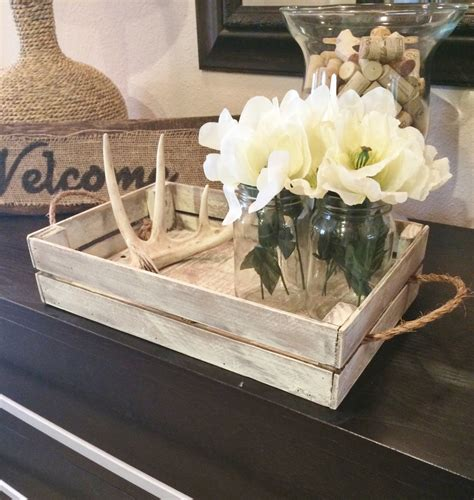 Coffee Table Decor Tray by White Distressed Tray Stain Distressed Tray W Brackets