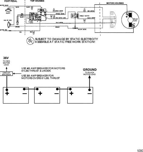wire diagram model 6107v 36 volt for motorguide motorguide