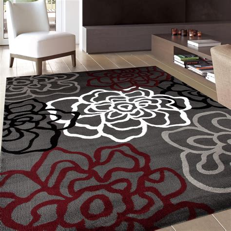 modern floral area rugs rugshop contemporary modern floral flowers