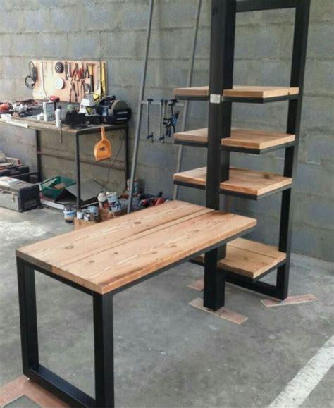 escritorio rustico metal madera   en mercado libre escritorio de madera  metal