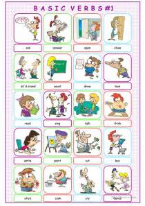 basic verbs picture dictionary 1 worksheet free esl