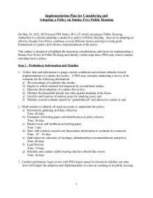 no smoking policy guidance handout