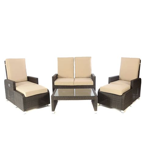 Reclining Sofa Set Kensington Club Brown Hb 6 Reclining Sofa Set Regatta Garden Furniture Essex