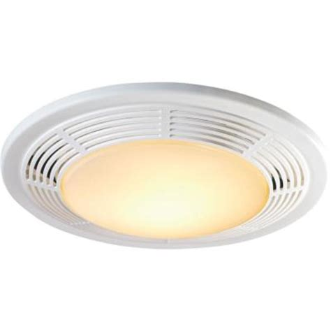 Ceiling Exhaust Fans With Lights Decorative White 100 Cfm Ceiling Exhaust Fan With Light And Light 8663rp The Home Depot
