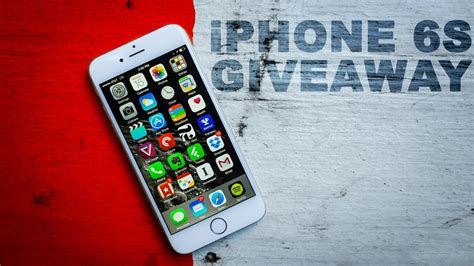 Iphone Sweepstakes - apple iphone 6s giveaway closed youtube