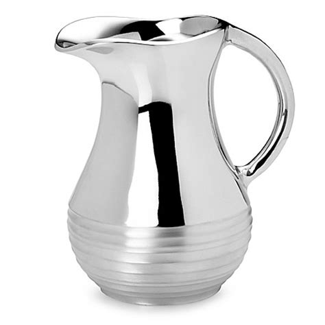 bed bath and beyond pitcher mikasa 174 swirl aluminum water pitcher bed bath beyond