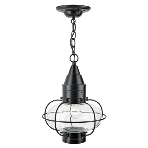 norwell lighting norwell lighting 1508 bl cl black classic single light 15 quot outdoor pendant with glass