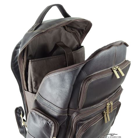 Womens Backpack Solene Black Intl leather backpack with laptop compartment click backpacks