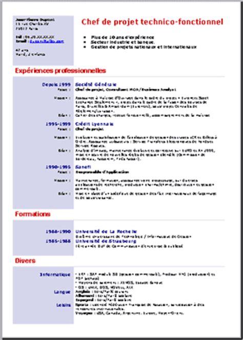 Comment Faire Un Bon Cv Exemple by Comment Faire Un Bon Cv Exemple