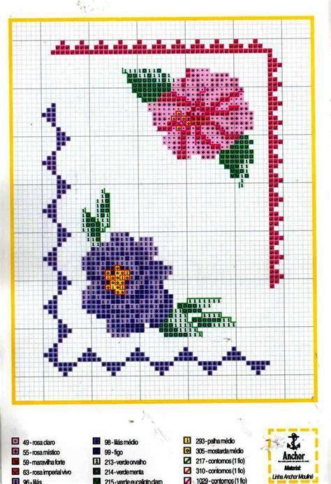 cornice a punto croce bordi angolari fiori cornicette magiedifilo it punto
