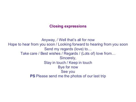 Letter To Hear From You Soon informal letters