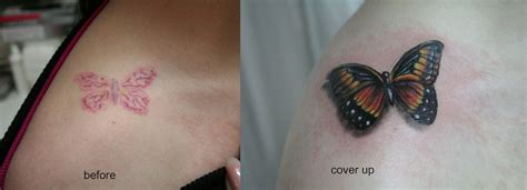 tattoo cover up butterfly butterfly cover up tat by 2face tattoo on deviantart