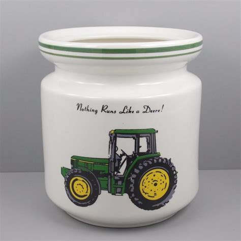 new john deere ceramic 3 piece kitchen canister set 04 john deere canisters for sale classifieds