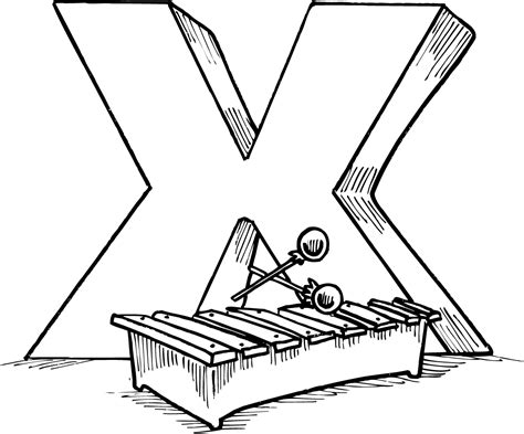 X Coloring Pages by Letter X Coloring Pages To And Print For Free