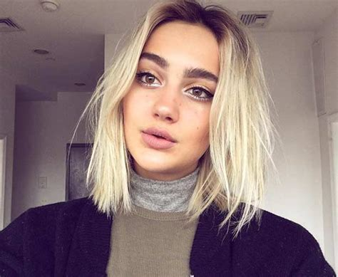 blunt lob haircuts 31 gorgeous long bob hairstyles dark roots lob and blondes