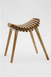 simple wooden stool in complex look structure