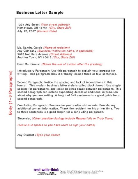 Business Letter Writing Guide Pdf Business Letter Sle Pdfsr