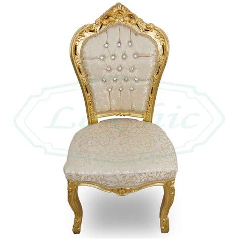 sedie stile barocco sedia in stile barocco foglia oro damascato in legno