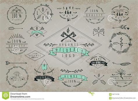 vintage design elements font set of vintage frames and labels stock vector image