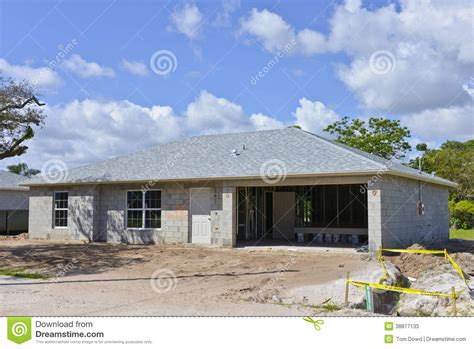 family house construction stock image image 38877133