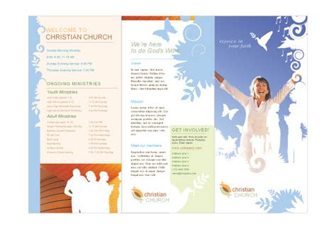 free church brochure templates christian church 2 print template pack from serif