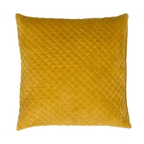 Yellow Throw Pillows Walmart by 22 Quot Solid Marigold Yellow Quilted Decorative Throw Pillow