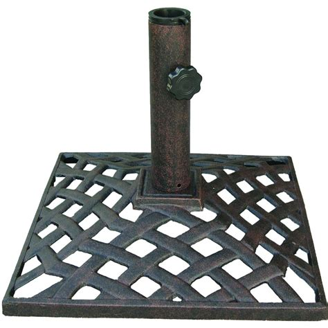 patio umbrella base darlee basket weave cast iron patio umbrella base bbq guys