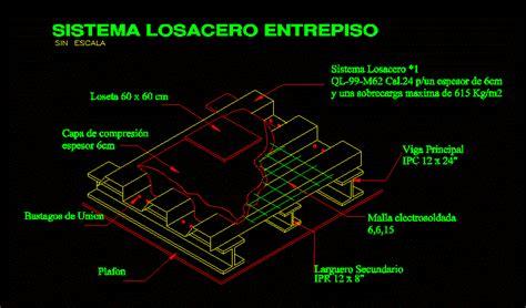 losacero dwg detail  autocad designs cad
