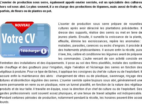 Lettre De Motivation Ouvrier De Production mod 232 le et exemple de lettre de motivation ouvrier de