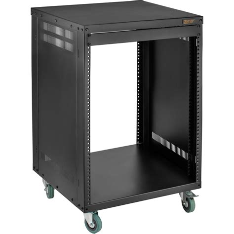 Rolling Equipment Rack by Auray Ers 12u Steel Equipment Rack With 3 Quot Casters Ers 12u