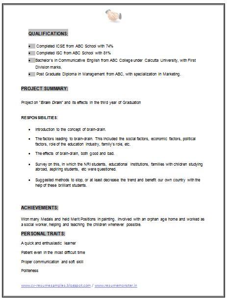 imposing mba marketing resume format mba marketing resume sle doc 2 career marketing resume and sle resume