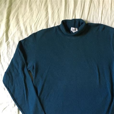 007 Sweater Green 45 j crew sweaters j crew green ribbed turtleneck sweater womens from s closet