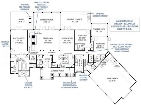modern ranch floor plans modern ranch house plans ranch house plans with 4 car