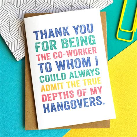 Thank You Note To Who Is Leaving Thank You For Being My Co Worker Leaving Greetings Card By Do You Punctuate