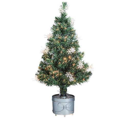 enchanted forest fiber optic christmas trees 36 quot snowflake fiber optic tree at menards 174