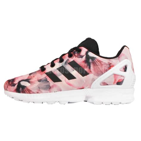 adidas originals zx flux k floral pink youth running shoes sneakers ebay