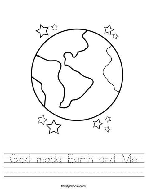 God Made Me Worksheet by God Made Earth And Me Worksheet Twisty Noodle
