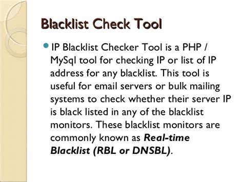 Ip Address Blacklist Lookup Tools For Ip Email Blacklist Check