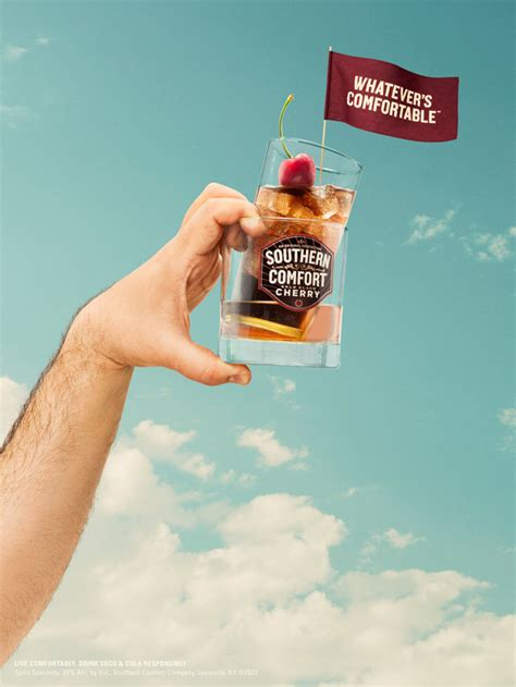 southern comfort whatever s comfortable ad of the day southern comfort gets comfortable in a hair
