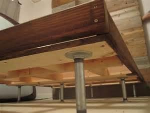 Bed Frame Legs For Hardwood Floors Diy Bed Frame W Plumbing Pipe Legs Home Inspired