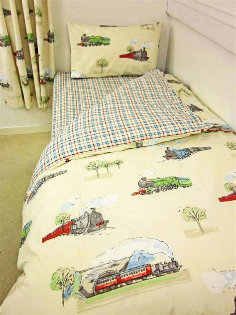 rail road single bedcover set steam trains single duvet cover set themed bedroom