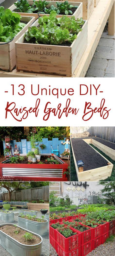 unique diy raised garden beds