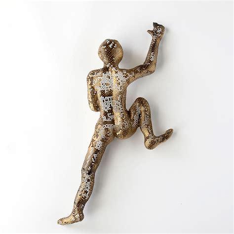 Wall Decor Sculpture by Climbing Figures Nuntchi Wire Mesh Sculptures