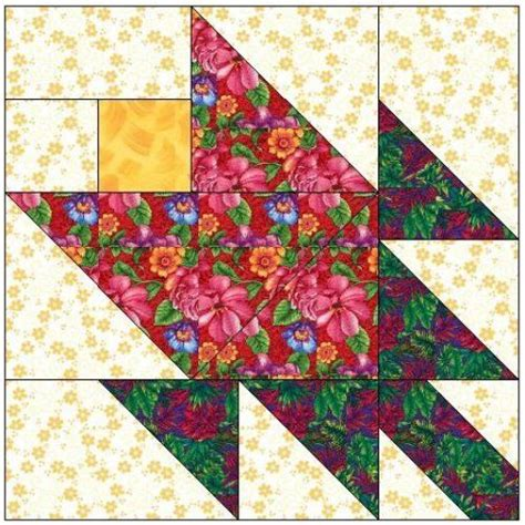 paper pattern blocks all stitches tulip paper piecing quilt block pattern