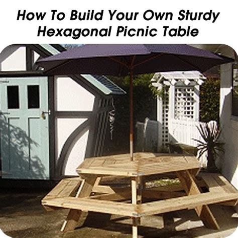 hexagon picnic table plans  woodworking